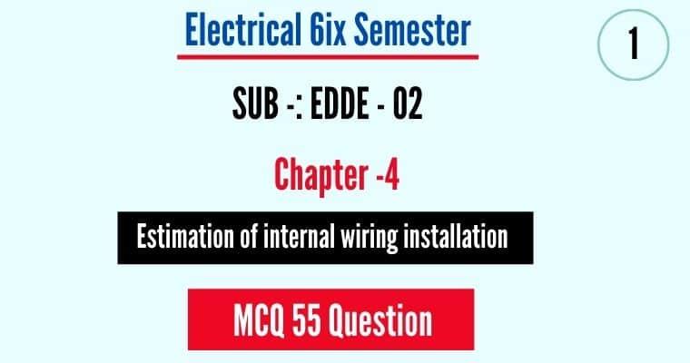 Estimation of internal wiring installation