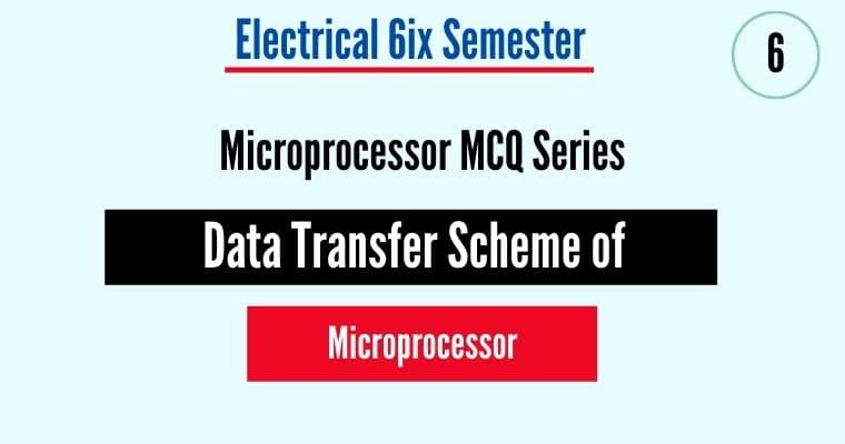 data Transfer Schemes of Microprocessor
