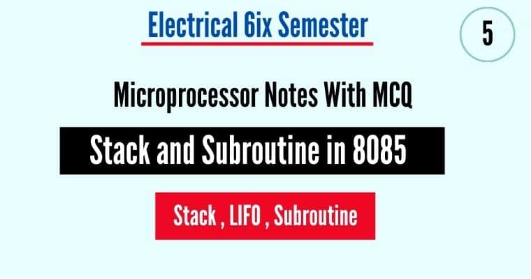 stack and subroutine in 8085 microprocessor