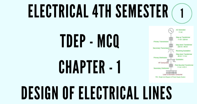 Design of Electrical lines MCQ