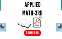 Applied Mathematics 3rd Book Pdf free