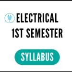 Electrical 1st Semester Syllabus 2020