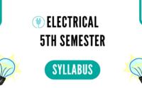 Electrical 5th Semester Syllabus 2020