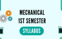 Mechanical 1st Semester Syllabus pdf download polytechnicpdf.com