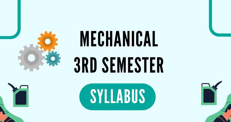 Mechanical 3rd Semester Syllabus polytechnicpdf.com