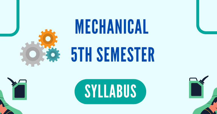 Mechanical 5th Semester Syllabus polytechnicpdf.com